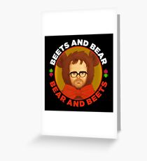 Beets and Bear Greeting Card