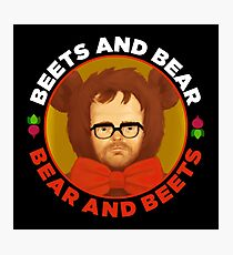 Beets and Bear Photographic Print