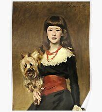 John Singer Sargent - Miss Beatrice Townsend 1882 Poster