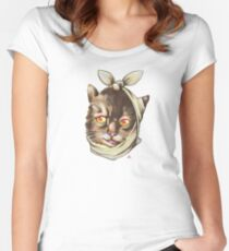 Kitty Face Ache Women's Fitted Scoop T-Shirt