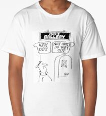 """""""Way Out"""" and """"Not So Way Out"""" Signs Long T-Shirt"""