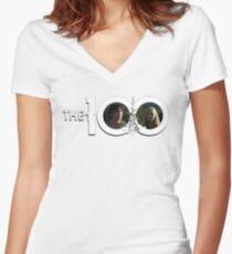 The 100 - Bellarke S2 (white) Women's Fitted V-Neck T-Shirt