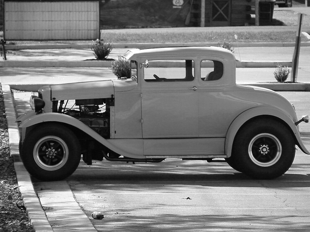Old car by inventor