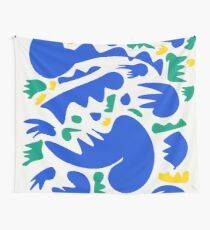 Abstract Blue Life  Wall Tapestry