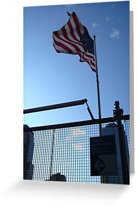 American Flag over the WTC Site by saidalauren