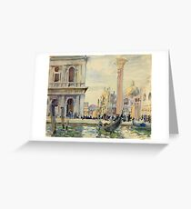 John Singer Sargent - The Piazzetta Greeting Card