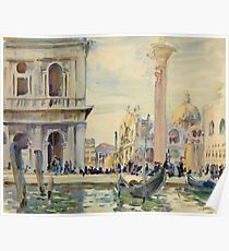 John Singer Sargent - The Piazzetta Poster