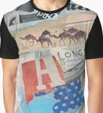 COLLAGE #america #camel Graphic T-Shirt