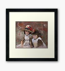 John Singer Sargent - Village Children 1890 Framed Print