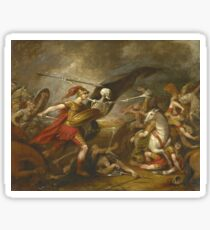 John Trumbull - Joshua At The Battle Of Ai - Attended By Death Sticker