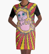 untitled fetus on magazine paper Graphic T-Shirt Dress