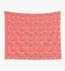 Broad City Art Model Pizza Censorship Pink (pattern) Wall Tapestry