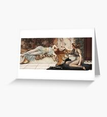 John William Godward - Mischief And Repose Greeting Card