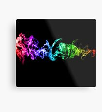 Colorful Abstract Smoke - A Rainbow in the Dark Metal Print