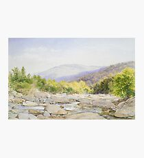 John William Hill - Landscape, View On Catskill Creek Photographic Print