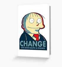 Ralph Wiggum for President 2016 Greeting Card