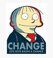 Ralph Wiggum for President 2016 Photographic Print