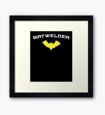 BATWELDER - Super Hero WELDER  Framed Print