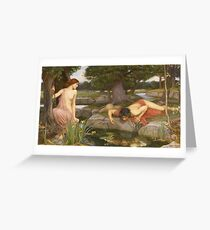 John William Waterhouse - Echo And Narcissus 1903 Greeting Card