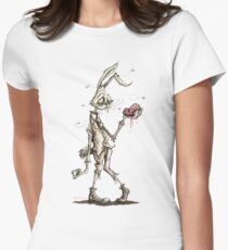 Bugs Zombunny (Sepia) Womens Fitted T-Shirt
