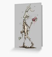 Bugs Zombunny (Sepia) Greeting Card