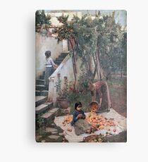 John William Waterhouse - The Orange Gatherers Metal Print