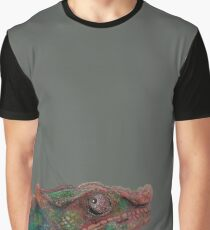 Relaxed Colorful Chameleon Graphic T-Shirt