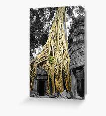 "Jungle Temple ""Siem Reap"" Greeting Card"