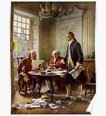 Writing The Declaration of Independence Poster
