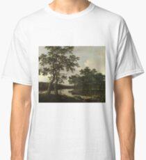 Joris Van Der Haagen - A River Landscape Classic T-Shirt