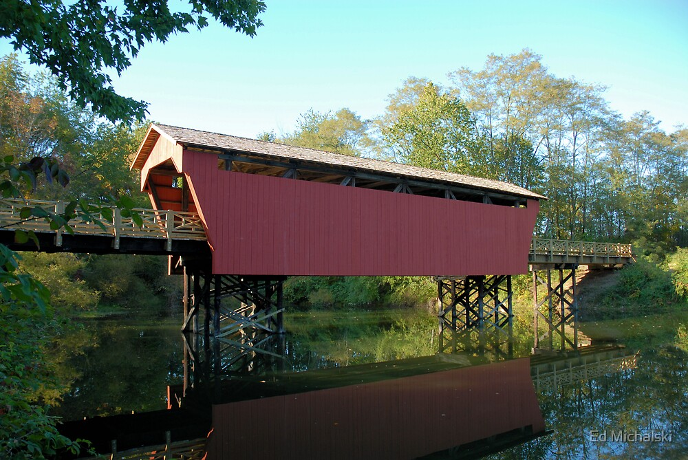 Fairfield county covered bridge by Ed Michalski