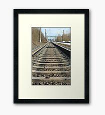 forward rails of railway Framed Print