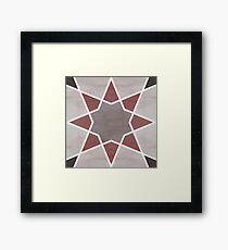 Cordoba tiles - grey and red Lámina enmarcada