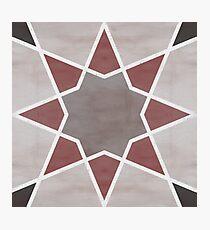 Cordoba tiles - grey and red Lámina fotográfica