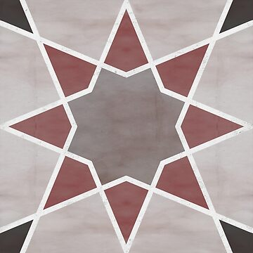 Cordoba tiles - grey and red de imaginadesigns