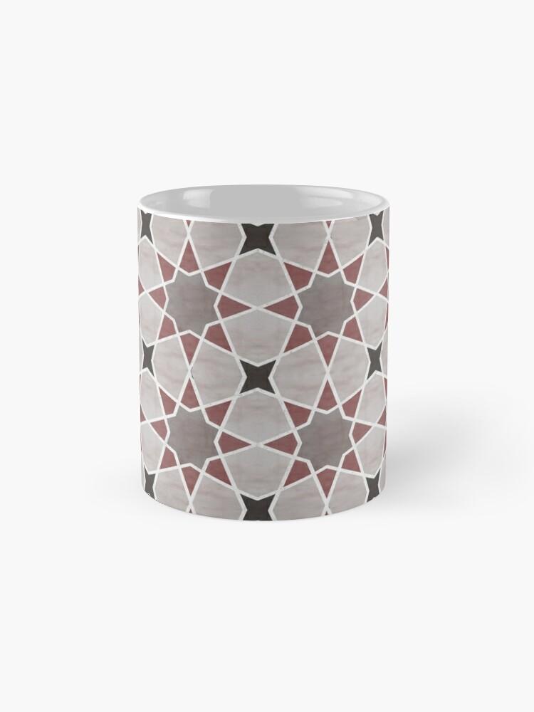 Vista alternativa de Taza estándar Cordoba tiles - grey and red