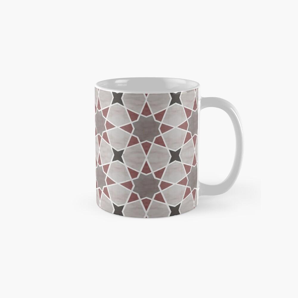 Cordoba tiles - grey and red Taza estándar