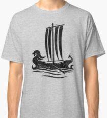 Phoenician Boat - Black Edition Classic T-Shirt
