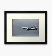 Passenger airplane Airbus A320   Framed Print