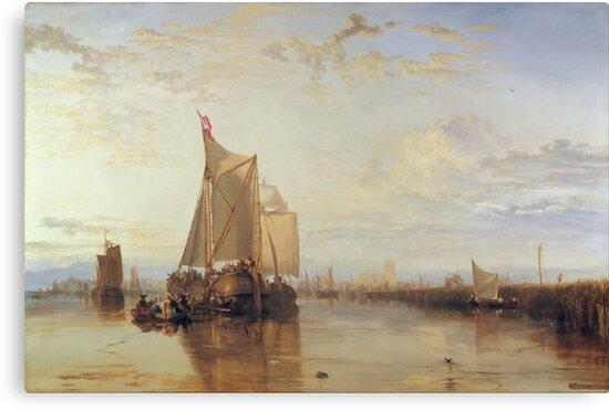 Joseph Mallord William Turner - Dort Or Dordrecht- The Dort Packet-Boat From Rotterdam Becalmed, 1818 by artcenter