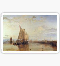 Joseph Mallord William Turner - Dort Or Dordrecht- The Dort Packet-Boat From Rotterdam Becalmed, 1818 Sticker