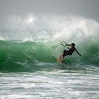Kite Boarding by Mark Baldwyn