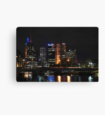 Melbourne by the yarra Canvas Print
