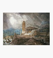 Joseph Michael Gandy - A Capriccio Of A Roman Port During A Storm Photographic Print