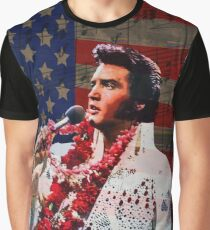 Elvis in Aloha white suit  Graphic T-Shirt