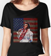 Elvis in Aloha white suit  Women's Relaxed Fit T-Shirt