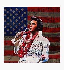 Elvis in Aloha white suit  Photographic Print