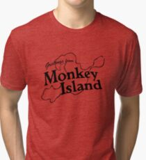 GREETINGS FROM MONKEY ISLAND Tri-blend T-Shirt