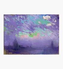 Joseph Pennell - Green, Blue And Purple (View Of London) Photographic Print