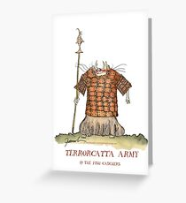 Terrorcatta Warrior, the fish catchers by tony fernandes Greeting Card